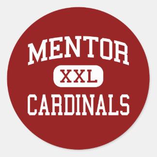 Mentor - cardenales - High School secundaria - Etiquetas Redondas
