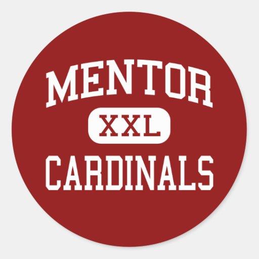 Mentor - cardenales - High School secundaria - Pegatina Redonda