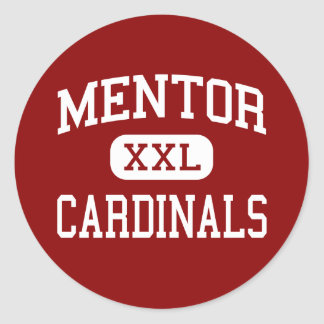 Mentor - Cardinals - High School - Mentor Ohio Classic Round Sticker