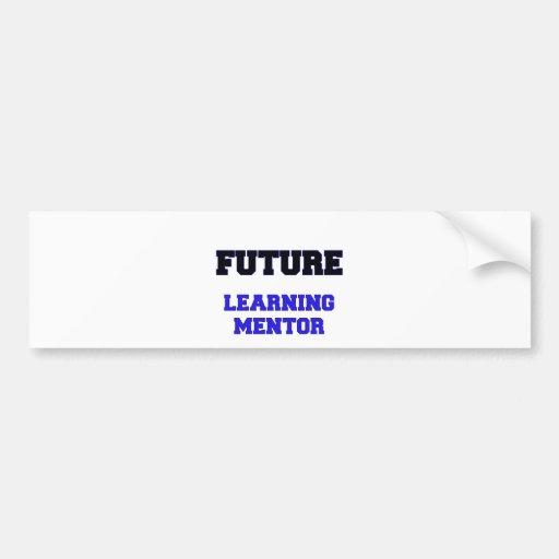 Mentor de aprendizaje futuro pegatina de parachoque