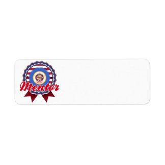 Mentor MN Return Address Label