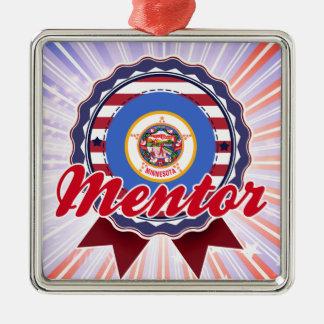 Mentor, MN Square Metal Christmas Ornament