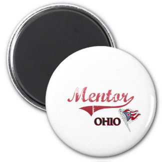 Mentor Ohio City Classic 2 Inch Round Magnet