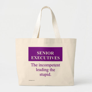 Mentoring Role of Senior Executives (3) Large Tote Bag
