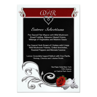 Menu 5x7 Paper Invitation Card