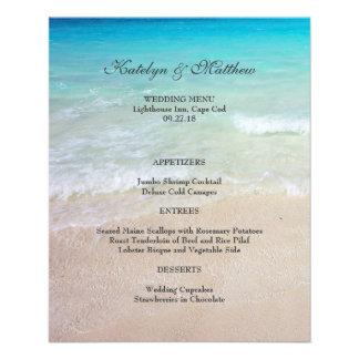 """Menú asequible 4x5 del boda del océano y de playa folleto 4.5"""" x 5.6"""""""