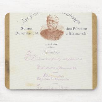 Menu at Prince von Bismarcks Mouse Pad