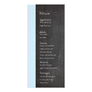 Menú azul del boda de la pizarra lona publicitaria