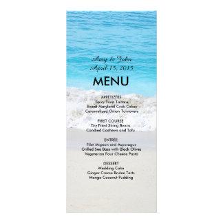 Menú beach1 del boda de playa tarjeta publicitaria personalizada
