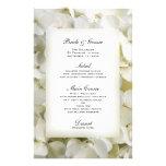 Menú blanco del boda del Hydrangea Papeleria De Diseño