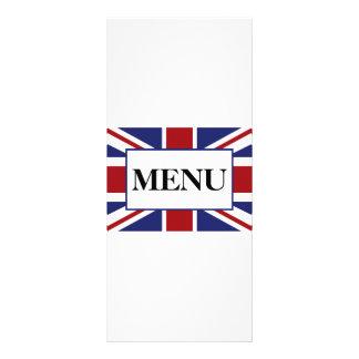 Menú británico del boda de la bandera de Union Tarjetas Publicitarias