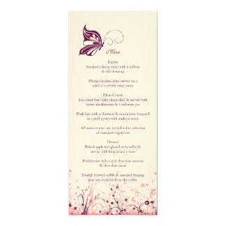 Menu ~ Butterfly Garden 3 Card