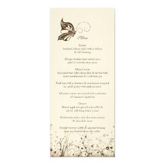Menu ~ Butterfly Garden 5 Card