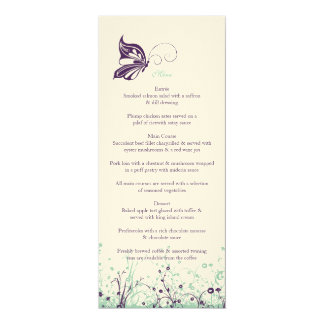 Menu ~ Butterfly Garden 9 Card