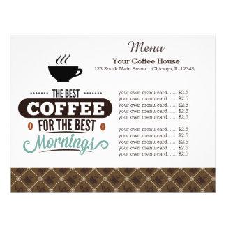 Menu card coffee house