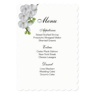 Menu Card-White Orchids Card