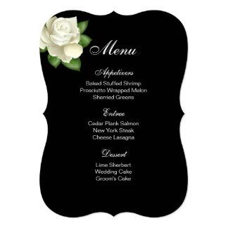 Menu Card-White Rose Card