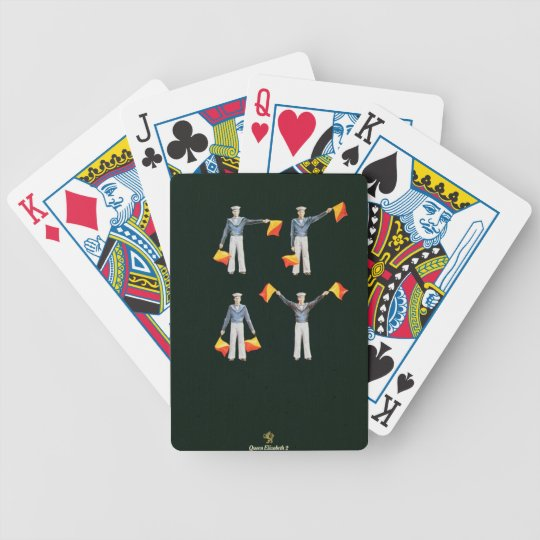 Menu cover from aboard the QE2 (colour litho) Bicycle Playing Cards