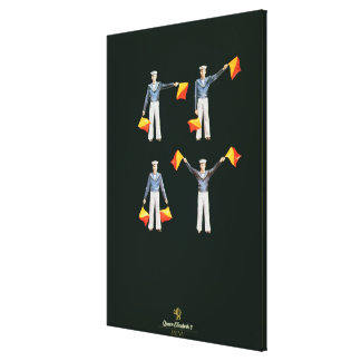 Menu cover from aboard the QE2 (colour litho) Canvas Print