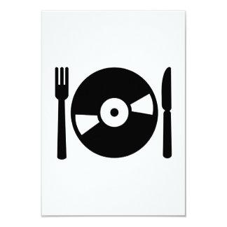 Menú de DJ del vinilo Comunicado Personal