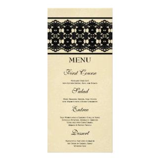 Menú de encargo de la comida del boda del cordón n plantilla de lona