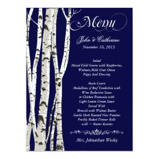 """Menú de encargo del boda de los árboles de abedul invitación 6.5"""" x 8.75"""""""