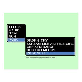Menú de la batalla del RPG de 8 pedazos Postal