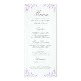 """Menú de la cena de boda del jardín secreto - invitación 4"""" x 9.25"""""""