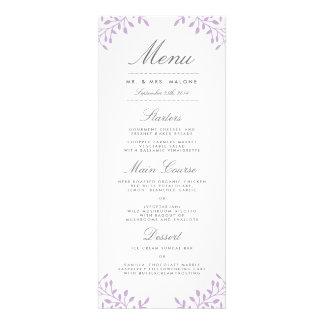 Menú de la cena de boda del jardín secreto - orquí