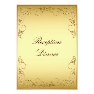 """Menú de la cena del oro invitación 5"""" x 7"""""""