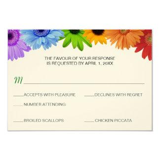 Menú de la respuesta del boda del ramo del arco invitación 8,9 x 12,7 cm