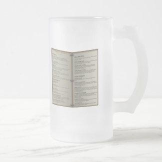 Menú de la taberna de la guarida del dragón taza de café