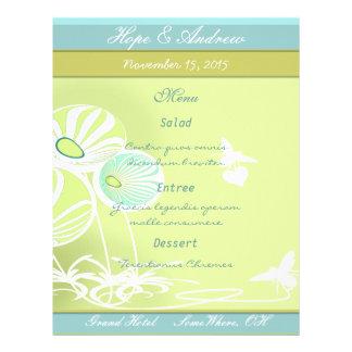 """Menú de las flores y de las abejas folleto 8.5"""" x 11"""""""