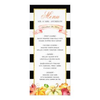 Menú del boda de la caída de las hojas de la lonas personalizadas