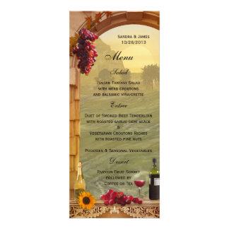 Menú del boda de la caída del viñedo o de la cena comunicados