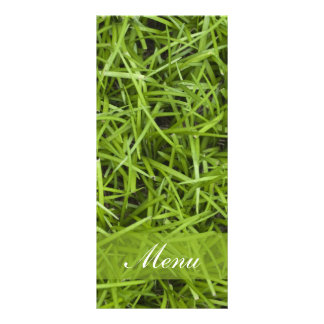 Menú del boda de la hierba verde tarjeta publicitaria personalizada