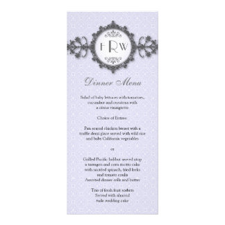 Menú del boda de la lila de la banda del art déco lona personalizada
