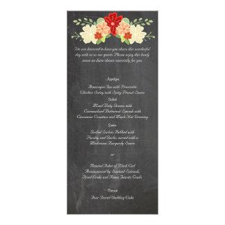 Menú del boda de la pizarra de la flor de la lonas publicitarias