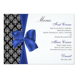 """menú del boda de los azules marinos invitación 5"""" x 7"""""""