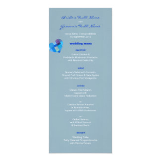 """Menú del boda de Nepal del invierno Invitación 4"""" X 9.25"""""""