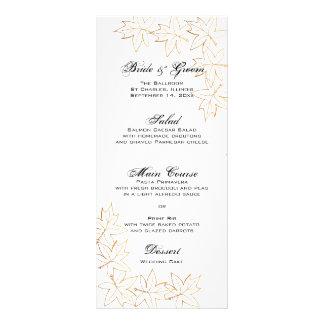 Menú del boda del borde de la hoja de arce del oto tarjetas publicitarias