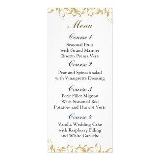 menú del boda del oro