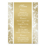 menú del boda del oro invitación 12,7 x 17,8 cm