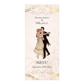 menú del boda del tema de los años 20 plantillas de lonas