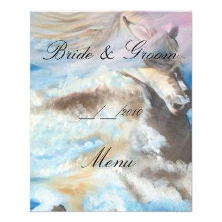 "menú del boda folleto 4.5"" x 5.6"""
