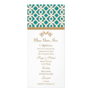 Menú del marroquí del trullo y del oro tarjeta publicitaria personalizada