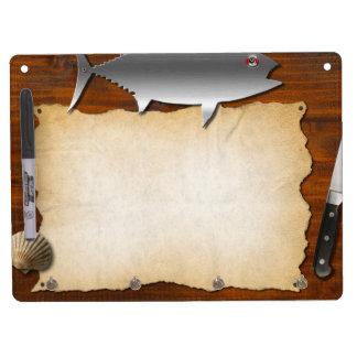 menu dry erase board with keychain holder