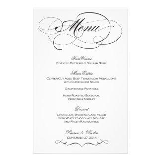 Menú elegante del boda de la escritura - papeleria de diseño