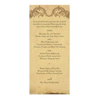 Menú elegante del boda del pavo real elegante del lona publicitaria