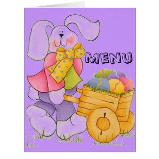menú/ementa tarjeta de felicitación grande